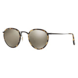 Oliver Peoples MP-2 Sun Hickory-Tortoise Black with Dark Grey Mirror Gold Sunglasses