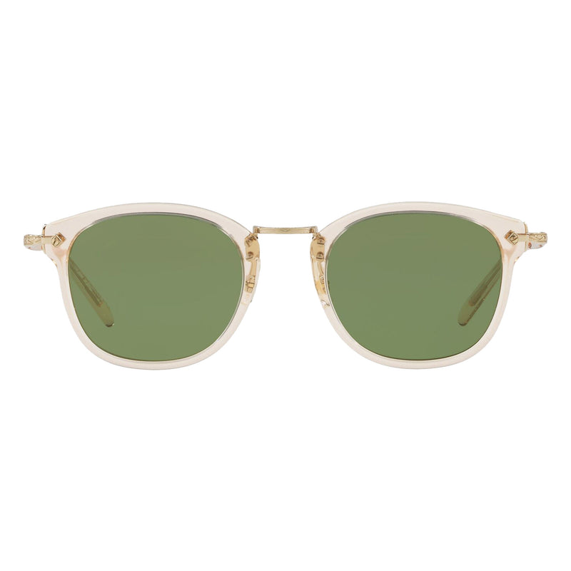 Oliver Peoples OP-506 Sun Buff Gold with Green C Sunglasses