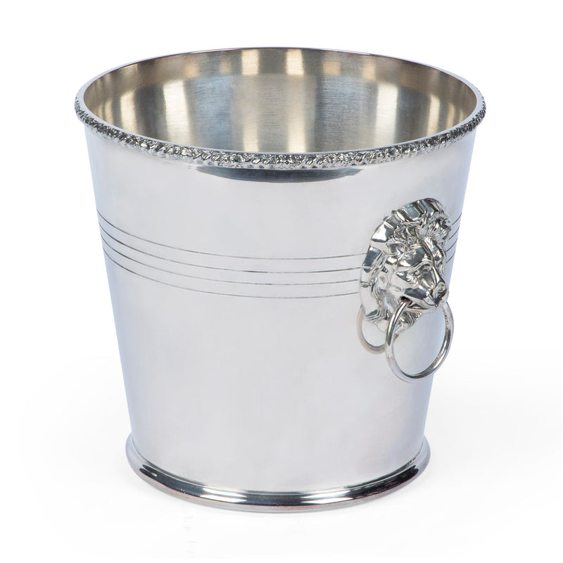 P.H. Vogel & Co. Silver Plate Lion Head Champagne Bucket Wine Cooler