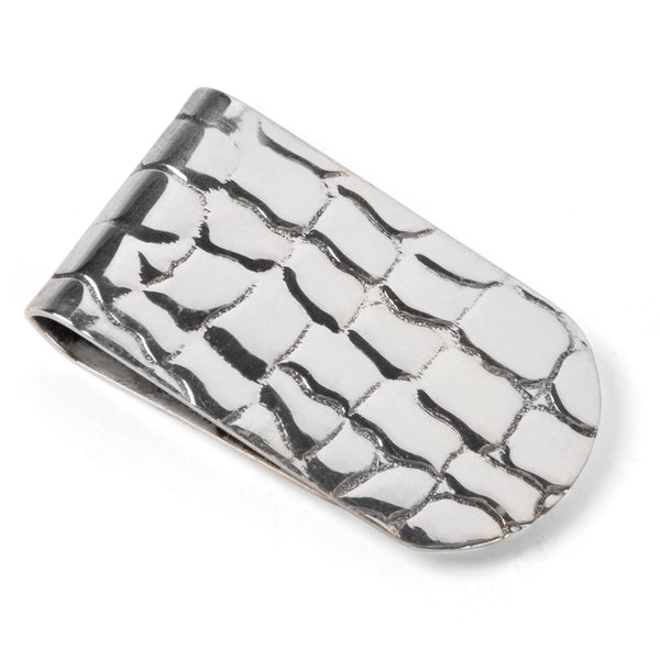 R. Blackinton Sterling Alligator Scales Money Clip
