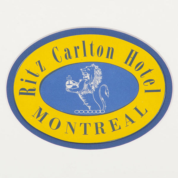 Ritz Carlton Hotel Montreal Luggage Label