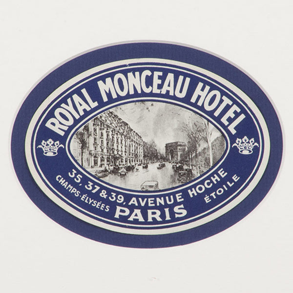 Royal Monceau Hotel Paris Luggage Label