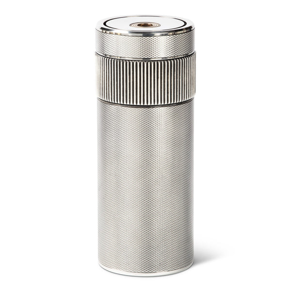 S.T. Dupont Silver Grain D'Orge Cylinder Table Lighter
