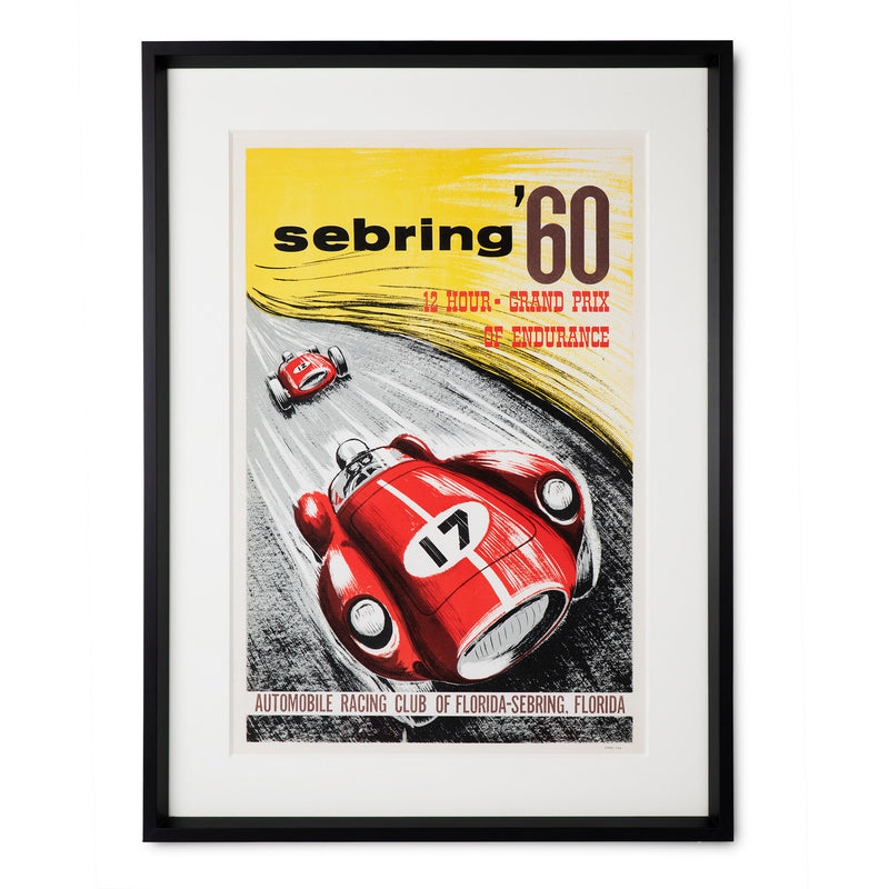 Sebring '60 Grand Prix Automobile Racing Original Poster