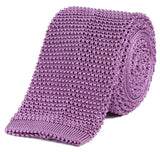 Sir Jack's Classic Knit Silk Tie in Lavender
