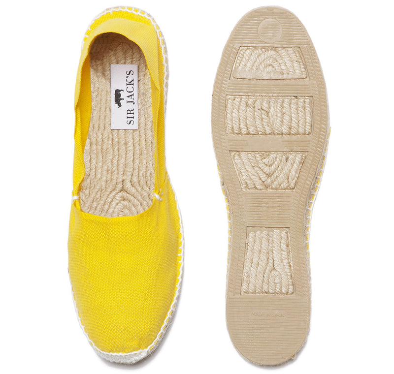 Canary Yellow Espadrilles