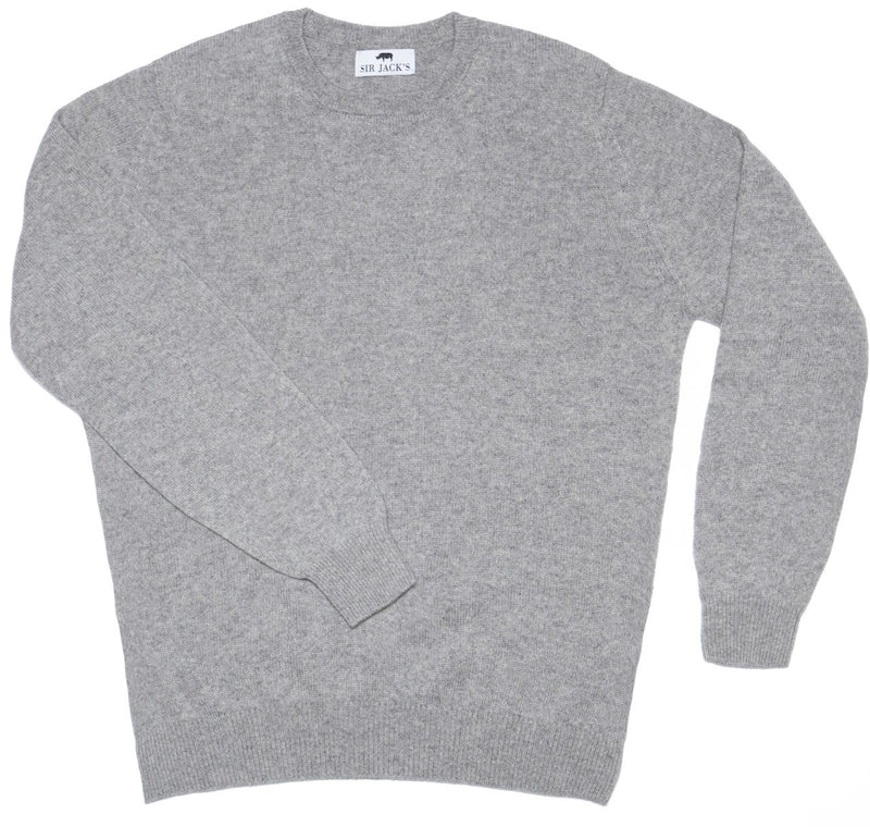 Sir Jack's Cashmere Crewneck Sweater in Grey