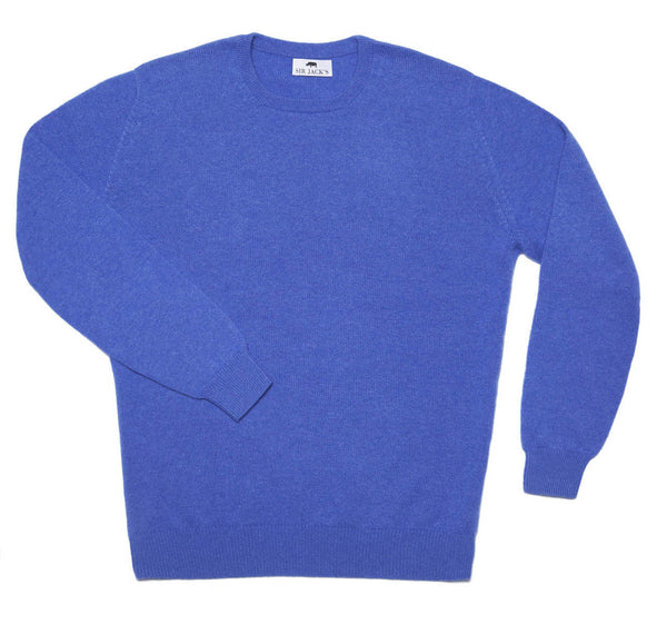 Sir Jack's Cashmere Crewneck Sweater in Ocean Blue