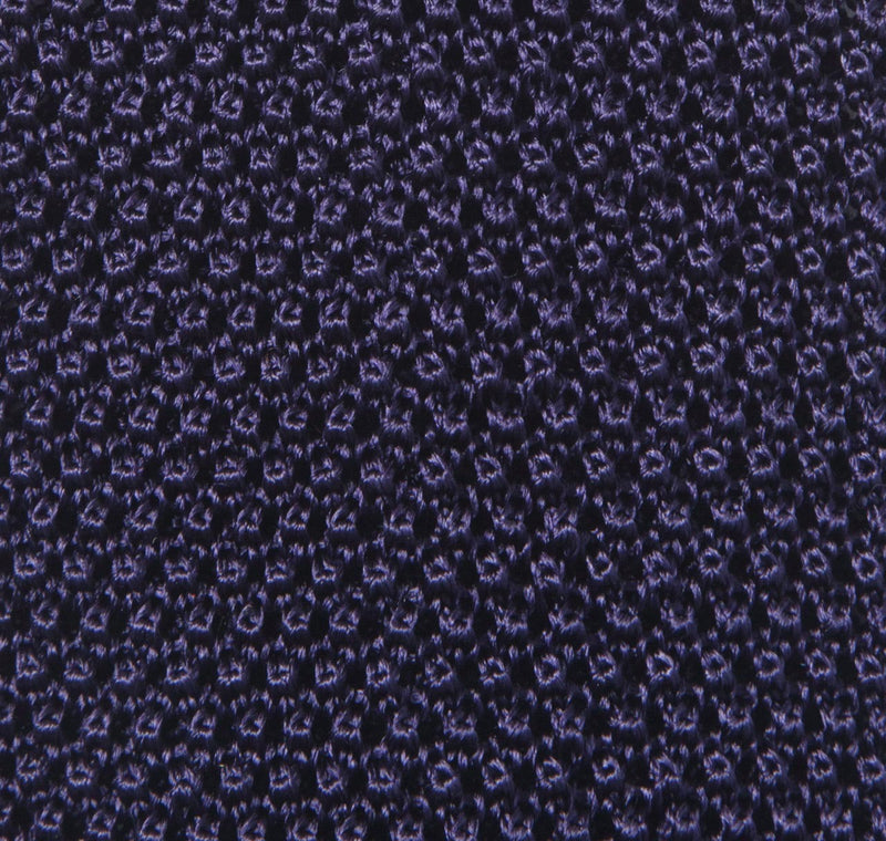 Classic Knit Silk Tie in Navy Blue