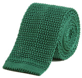 Sir Jack's Classic Knit Silk Tie in Spruce Green