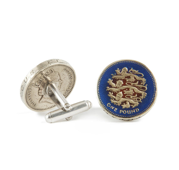 Sir Jack's English Pound Coin Cufflinks