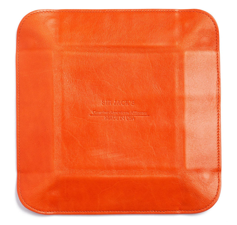 Glazed Orange Alligator Valet Tray