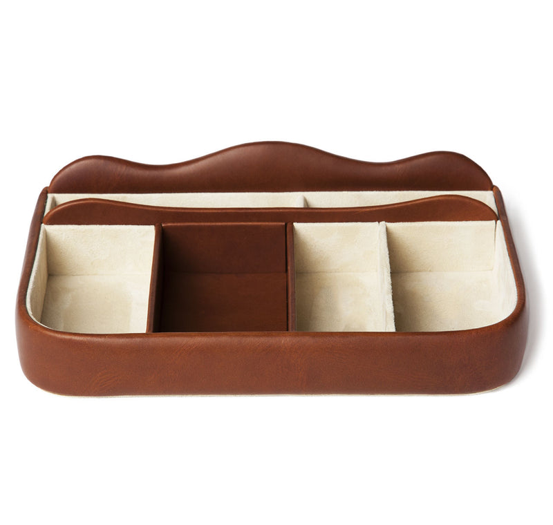 Havana Leather Dresser Tray