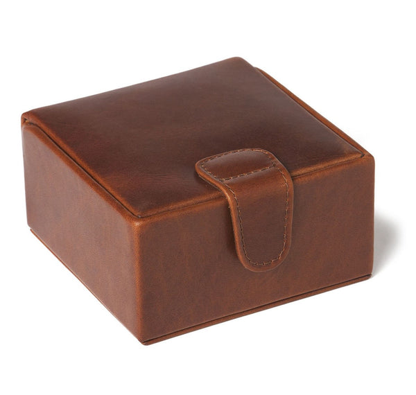 Havana Leather Medium Stud Box