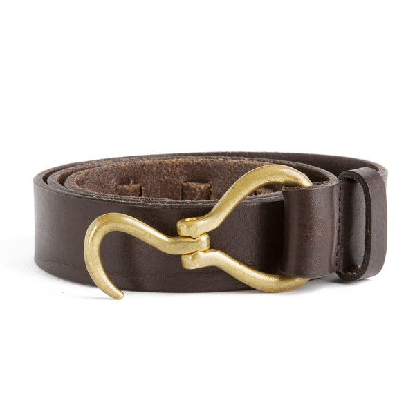 Sir Jack's Hoof Pick Belt in Brown Leather