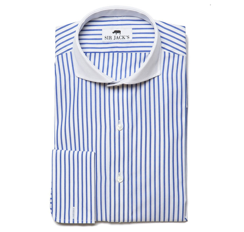 Lennox Navy Stripe Shirt French Cuff