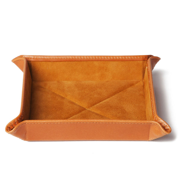 London Tan Leather Travel Tray