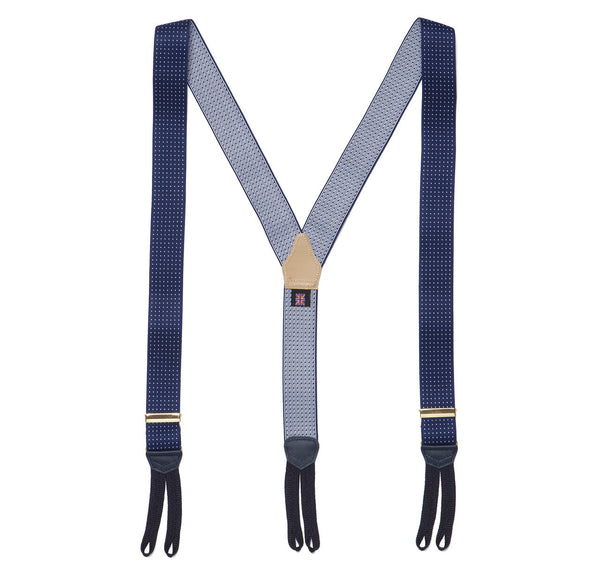 Sir Jack's Navy Pin Dot Brace