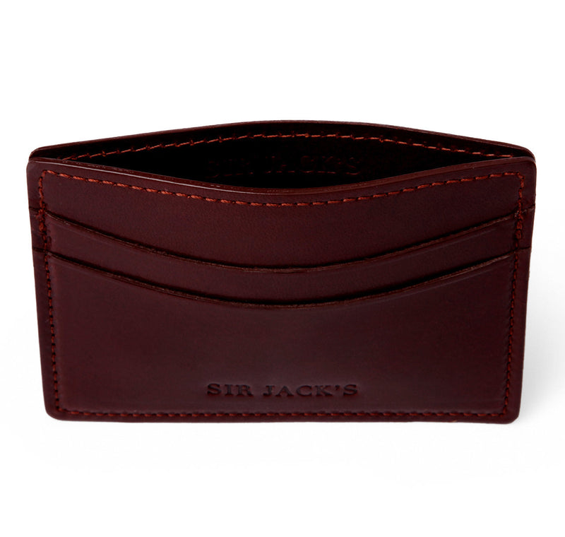 Nut Brown Bridle Card Holder