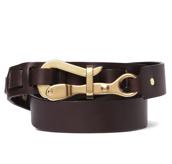 SirJacks Pelican Hook Belt in Brown Leather