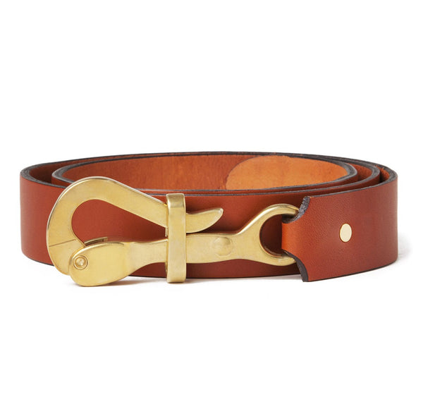 Sir Jack's Pelican Hook Belt in Tan Leather