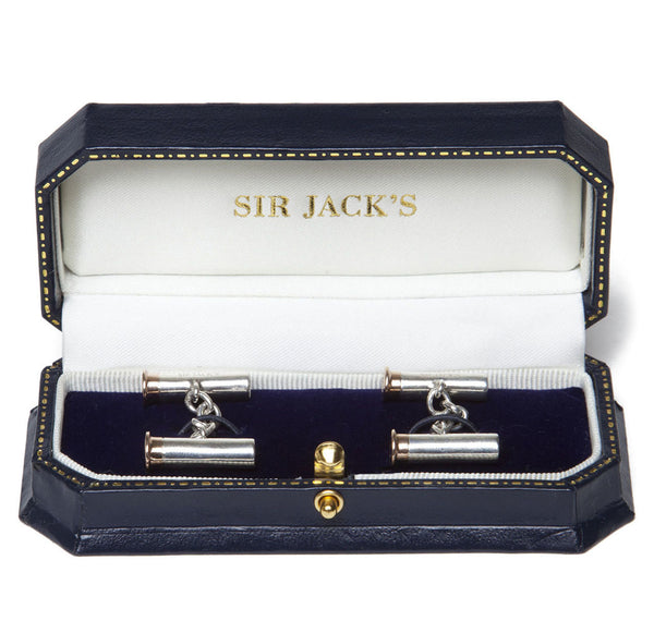 Sir Jack's Rose Gold & Sterling Silver Cartridge Cufflinks