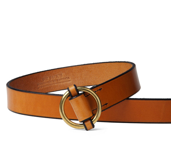 Sir Jack's Slip Cinch Belt in Light Havana
