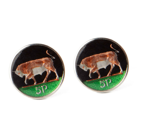 Irish Bull Coin Cufflinks