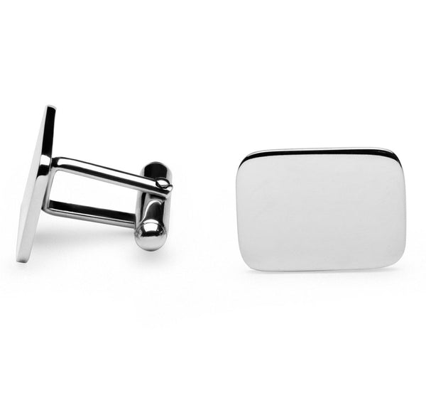 Sir Jack's Sterling Rectangle Cufflinks
