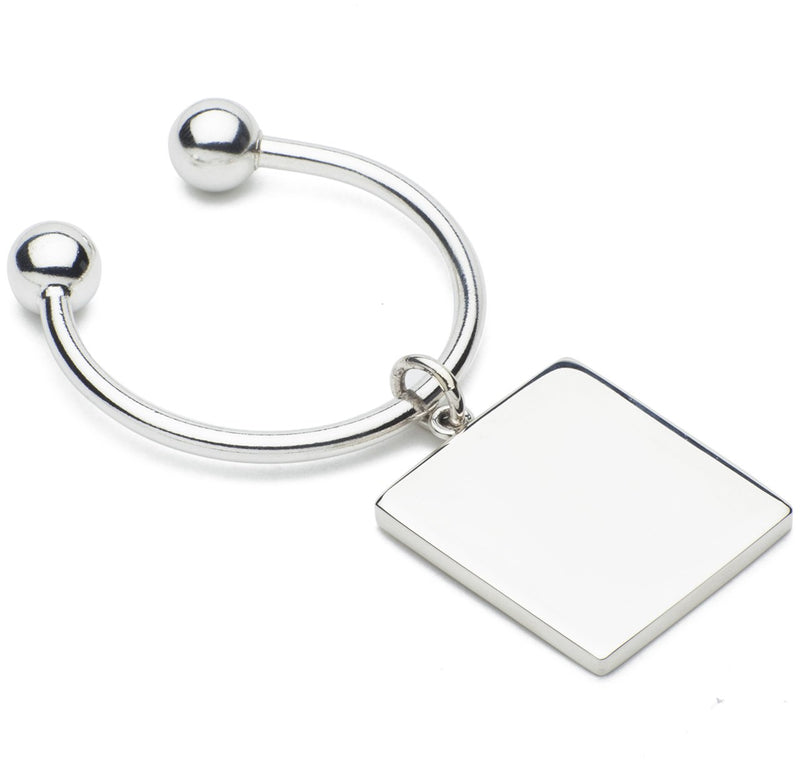 Sir Jack's Sterling Silver Ball & Square Key Ring