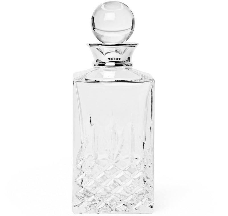 Sir Jack's Sterling Silver & Crystal Balmore Spirits Decanter