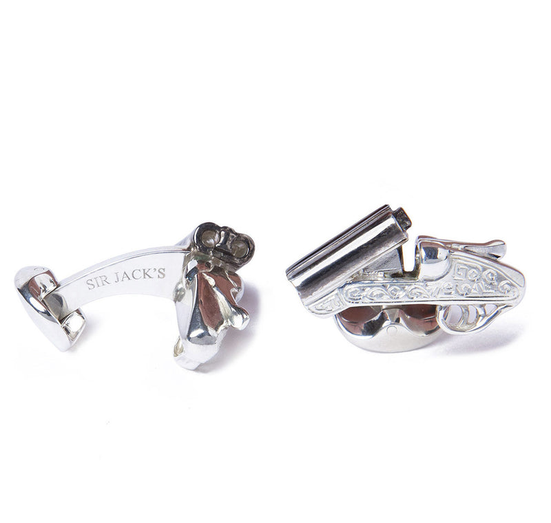 Sterling Silver Shotgun Cufflinks