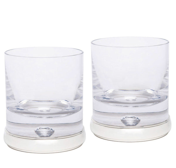 Sir Jack's Sterling Silver & Crystal Whiskey Tumbler Set