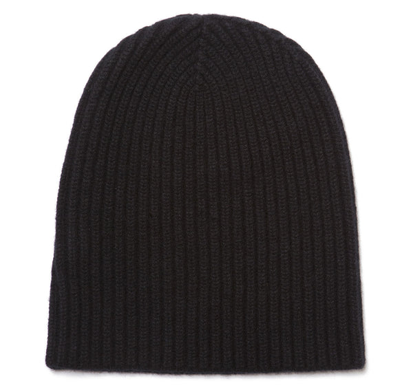 Classic Pure Cashmere Black Watch Cap