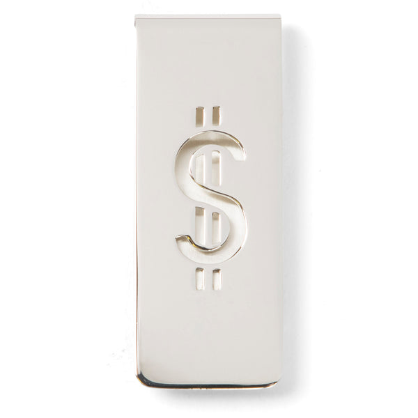 Sir Jack's Sterling Silver Dollar Sign Money Clip