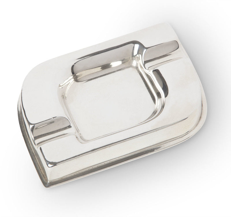 English Sterling Silver Modernist Ashtray