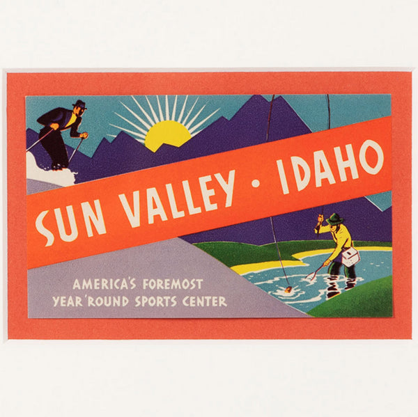 Sun Valley Idaho Travel Luggage Label