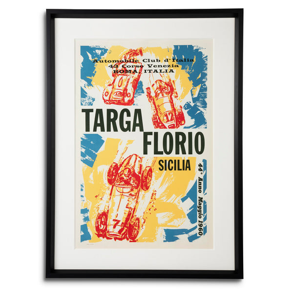 Targa Floria Sicilia - 44th Race 1960 Italian Racing Poster