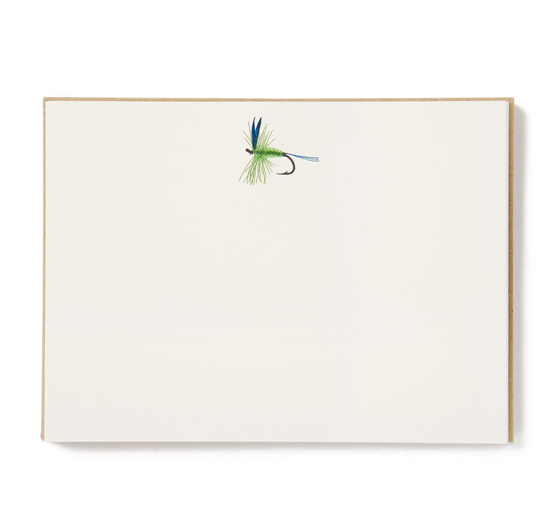 Terrapin Stationers Engraved Green Fly Fishing Motif Stationery Set