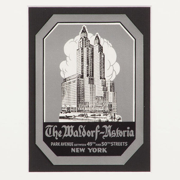 The Waldorf-Astoria New York Hotel Luggage Label