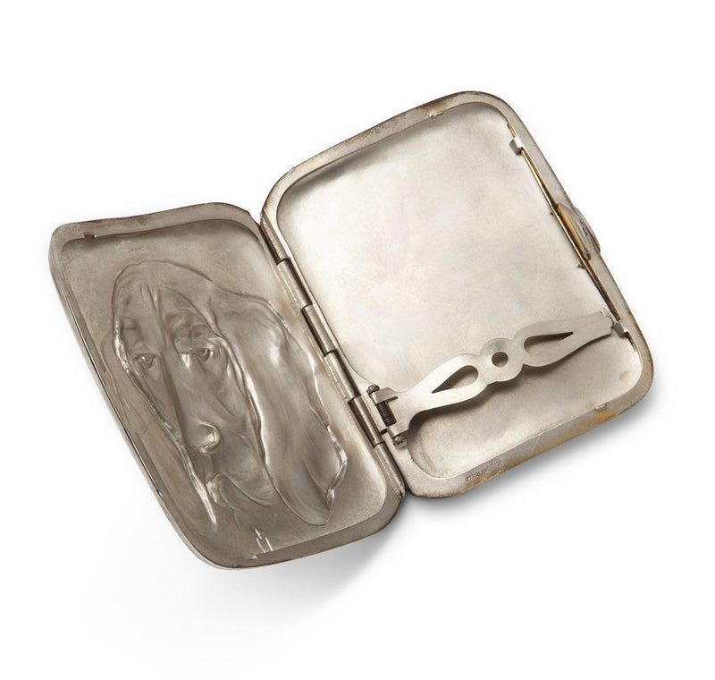 Unger Brothers Sterling Hound Cigarette Case