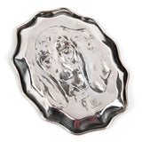 Unger Brothers Sterling Silver Hound Cigar Ashtray