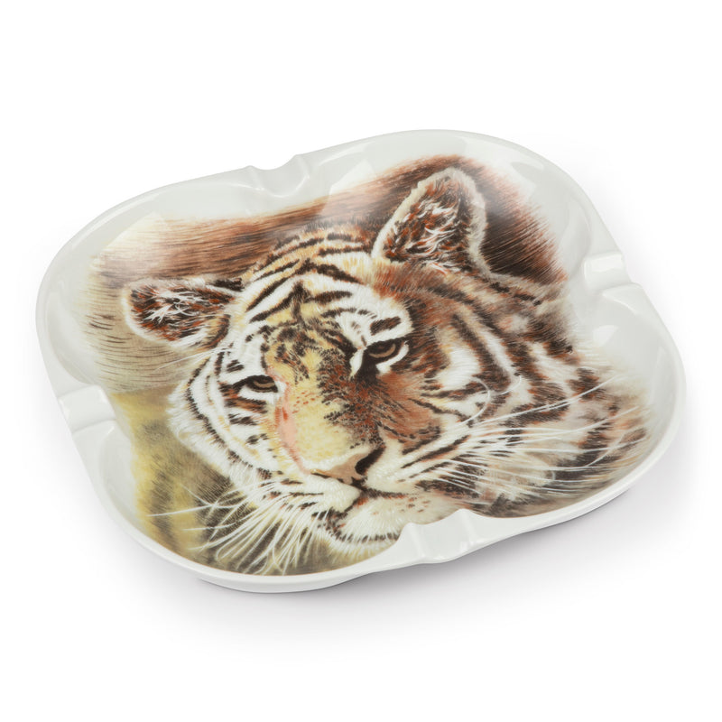 Vintage Abercrombie & Fitch Tiger Cigar Porcelain Ashtray