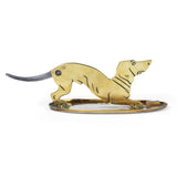Vintage Brass Dachshund Dog Cigar Cutter & Ashtray