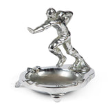Vintage Chrome Football Ashtray