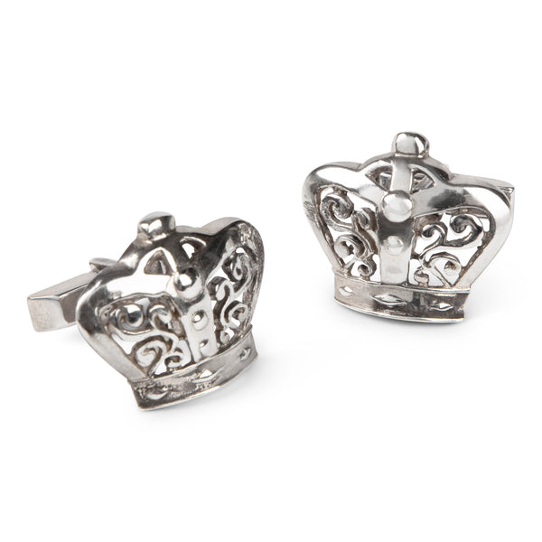 Vintage Fenwick & Sailors Sterling Crown Cufflinks