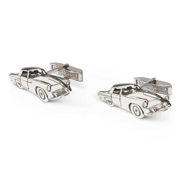 Vintage Fenwick & Sailors Sterling Pontiac Thunderbird Cufflinks