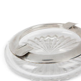 Vintage Sterling & Cut Crystal Cigar Ashtray