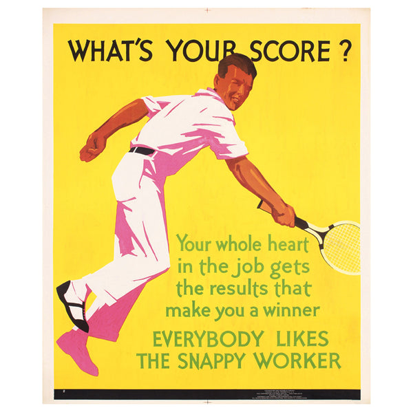 What's Your Score? Mather Work Incentive Original Poster