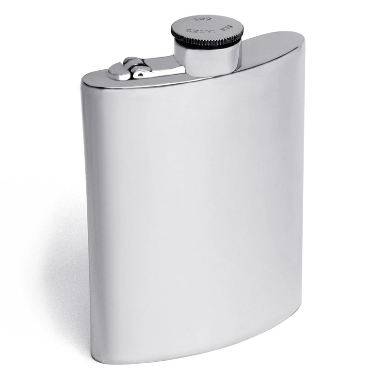 Sir Jack's 6oz Pewter Kidney Captive Top Flask